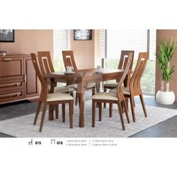 Esstich mit 6 Stühlen S615E616