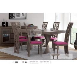 Esstich mit 6 Stühlen E604S603