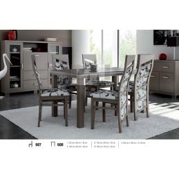 Esstich mit 6 Stühlen E607S608