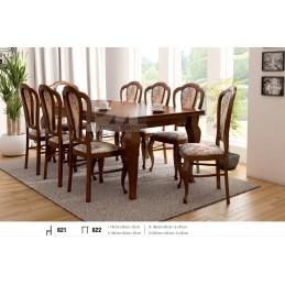 Esstich mit 8 Stühlen E622S621