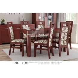Esstich mit 6 Stühlen S702E701